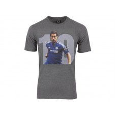 Men Chelsea #10 Eden Hazard Grey T-Shirt