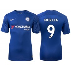 Chelsea 2017/18 Alvaro Morata #9 Blue Home Jersey - Authentic