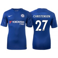 Chelsea 2017/18 Andreas Christensen #27 Blue Home Jersey - Authentic