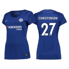 Women - Chelsea 2017/18 Andreas Christensen #27 Blue Home Jersey - Authentic