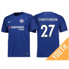 Youth - Chelsea 2017/18 Andreas Christensen #27 Blue Home Jersey - Authentic