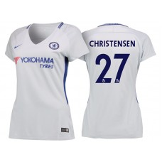 Women - Chelsea 2017/18 Andreas Christensen #27 White Away Jersey - Authentic