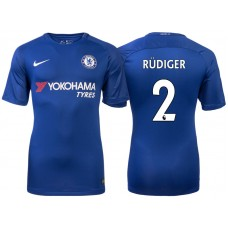 Chelsea 2017/18 Antonio Rudiger #2 Blue Home Jersey - Authentic