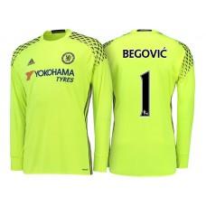 Chelsea 2016/17 Asmir Begovic Yellow Replica Goalkeeper Jersey