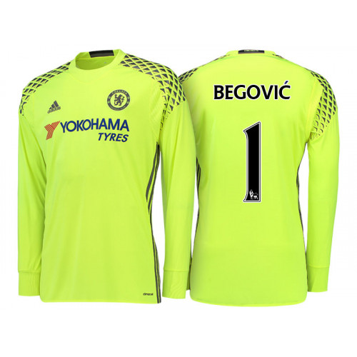 Chelsea 2016/17 Asmir Begovic Yellow Replica Goalkeeper Jersey
