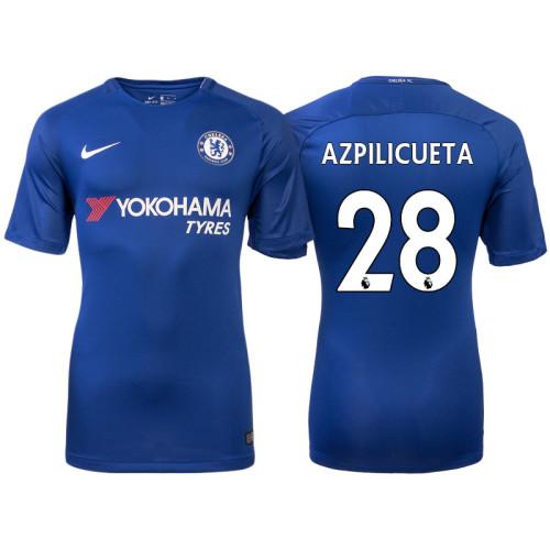 buy popular b6710 9e21b Chelsea 2017/18 Cesar Azpilicueta #28 Blue Home Jersey ...