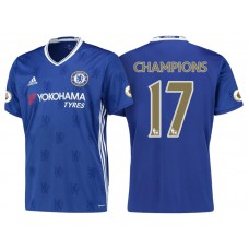 Chelsea 2016/17 #17 Champions Blue Home Jersey