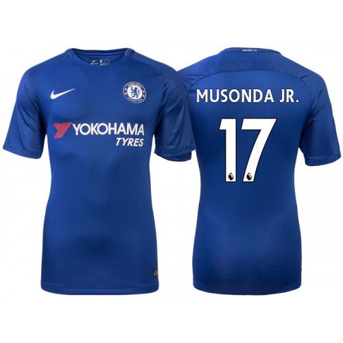 Chelsea 2017/18 Charly Musonda Junior #17 Blue Home Jersey - Authentic