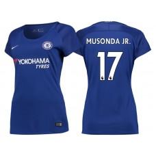 Women - Chelsea 2017/18 Charly Musonda Junior #17 Blue Home Jersey - Authentic