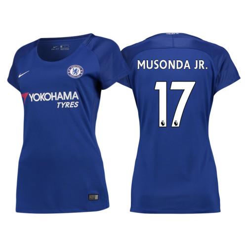 78090ad843b Women - Chelsea 2017 18 Charly Musonda Junior  17 Blue Home Jersey - Replica