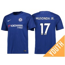 Youth - Chelsea 2017/18 Charly Musonda Junior #17 Blue Home Jersey - Authentic