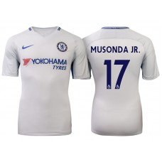 Chelsea 2017/18 Charly Musonda Junior #17 White Away Jersey - Replica