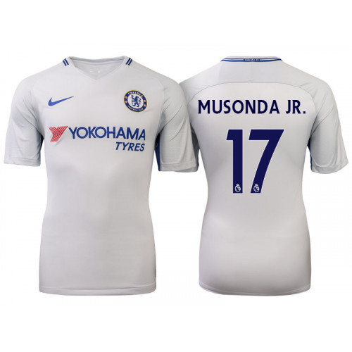 Chelsea 2017/18 Charly Musonda Junior #17 White Away Jersey - Authentic