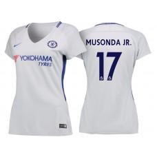 Women - Chelsea 2017/18 Charly Musonda Junior #17 White Away Jersey - Authentic