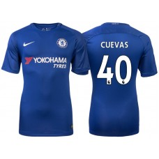 Chelsea 2017/18 Cristian Cuevas #40 Blue Home Jersey - Authentic
