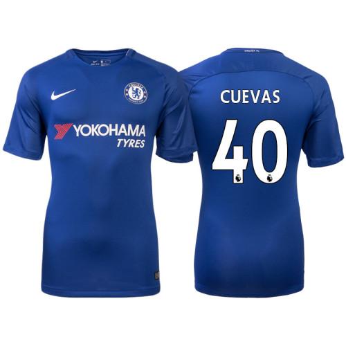Chelsea 2017/18 Cristian Cuevas #40 Blue Home Jersey - Authentic