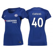Women - Chelsea 2017/18 Cristian Cuevas #40 Blue Home Jersey - Authentic