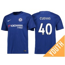 Youth - Chelsea 2017/18 Cristian Cuevas #40 Blue Home Jersey - Authentic