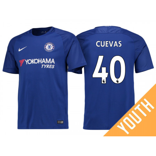 Youth - Chelsea 2017/18 Cristian Cuevas #40 Blue Home Jersey - Replica