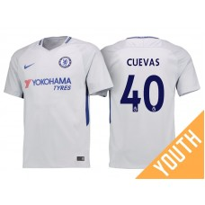 Youth - Chelsea 2017/18 Cristian Cuevas #40 White Away Jersey - Authentic