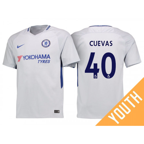 Youth - Chelsea 2017/18 Cristian Cuevas #40 White Away Jersey - Replica
