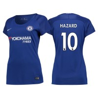 Women - Chelsea 2017/18 Eden Hazard #10 Blue Home Jersey - Authentic