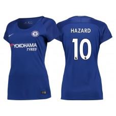 Women - Chelsea 2017/18 Eden Hazard #10 Blue Home Jersey - Replica