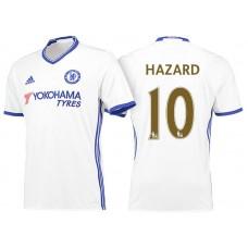 Chelsea 2016/17 #10 Eden Hazard White Champions Away  Jersey