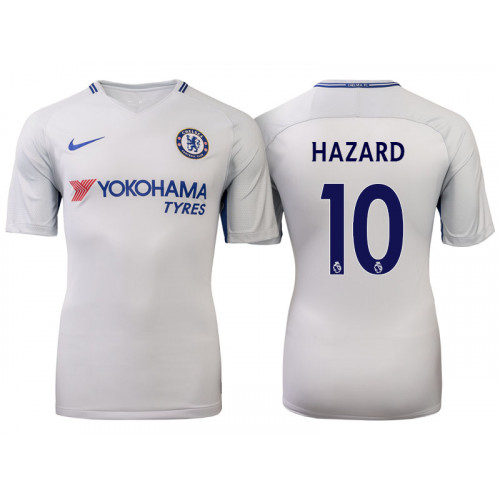Chelsea 2017/18 Eden Hazard #10 White Away Jersey - Authentic