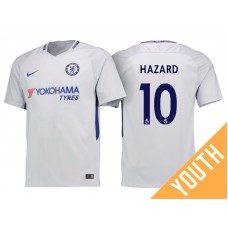 Youth - Chelsea 2017/18 Eden Hazard #10 White Away Jersey - Authentic