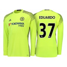 Chelsea 2016/17 Eduardo Yellow Replica Goalkeeper Jersey