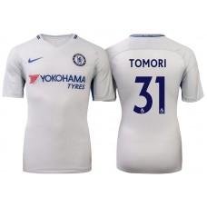 Chelsea 2017/18 Fikayo Tomori #31 White Away Jersey - Authentic