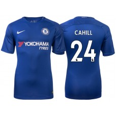 Chelsea 2017/18 Gary Cahill #24 Blue Home Jersey - Authentic
