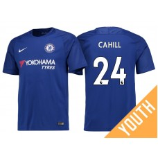 Youth - Chelsea 2017/18 Gary Cahill #24 Blue Home Jersey - Authentic