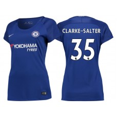Women - Chelsea 2017/18 Jake Clarke-Salter #35 Blue Home Jersey - Authentic