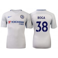 Chelsea 2017/18 Jeremie Boga #38 White Away Jersey - Authentic