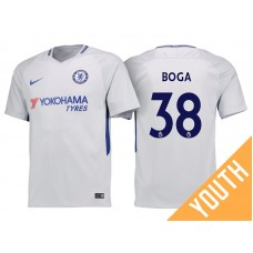 Youth - Chelsea 2017/18 Jeremie Boga #38 White Away Jersey - Authentic