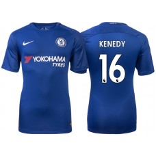 Chelsea 2017/18 Kenedy #16 Blue Home Jersey - Authentic