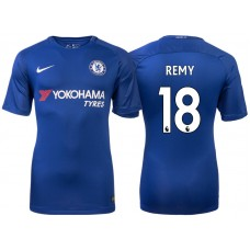 Chelsea 2017/18 Loic Remy #18 Blue Home Jersey - Authentic