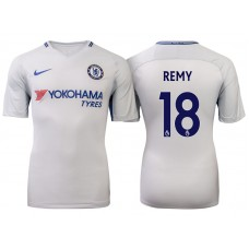 Chelsea 2017/18 Loic Remy #18 White Away Jersey - Authentic