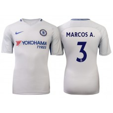Chelsea 2017/18 Marcos Alonso #3 White Away Jersey - Authentic