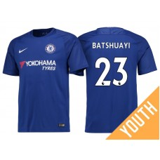 Youth - Chelsea 2017/18 Michy Batshuayi #23 Blue Home Jersey - Authentic