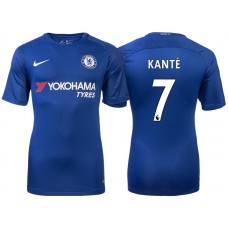 Chelsea 2017/18 N'Golo Kante #7 Blue Home Jersey - Authentic