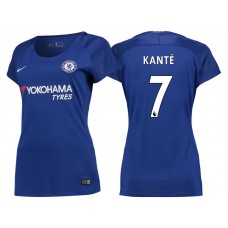 Women - Chelsea 2017/18 N'Golo Kante #7 Blue Home Jersey - Authentic