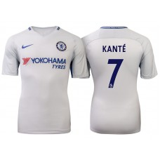 Chelsea 2017/18 N'Golo Kante #7 White Away Jersey - Authentic