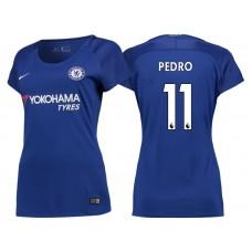 Women - Chelsea 2017/18 Pedro #11 Blue Home Jersey - Authentic