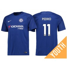 Youth - Chelsea 2017/18 Pedro #11 Blue Home Jersey - Replica