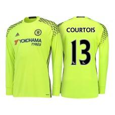 Chelsea 2016/17 Thibaut Courtois Yellow Replica Goalkeeper Jersey