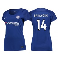 Women - Chelsea 2017/18 Tiemoue Bakayoko #14 Blue Home Jersey - Authentic