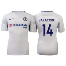 Chelsea 2017/18 Tiemoue Bakayoko #14 White Away Jersey - Authentic